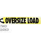 Aluminum Two-Sided Reflective Hinged Oversize Load Sign