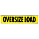 Vinyl Reflective Oversize Load Banner with Grommets 18 Inch x 84 Inch