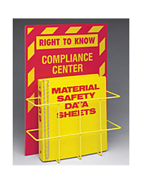 Right to Know Compliance Center w/ MSDS Binder