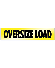 Reflective Aluminum Oversize Load Sign 18 Inch x 84 Inch