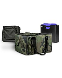 Green Camouflage File Tote with one Hanging File Holder and one Tablet Case