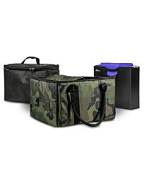 Green Camouflage File Tote with one Cooler and one Hanging File Holder