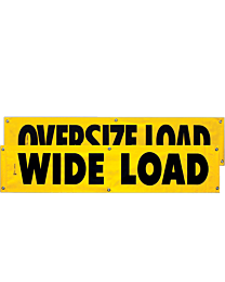 Vinyl Two Sided Oversize Load/Wide Load Banner 18 Inch x 84 Inch