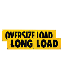 Vinyl Two Sided Oversize Load/Long Load Banner