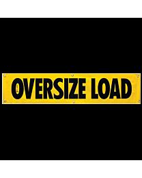 Vinyl Oversize Load Banner 18 Inch x 84 Inch