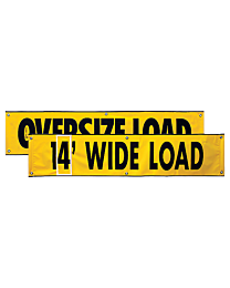 Vinyl Two Sided Oversize Load/Wide Load with Numbers