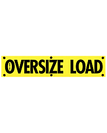 High Intensity Oversize Load Reflective Banner 18 Inch x 84 Inch
