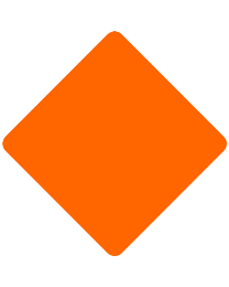 Blank Safety Roadside Roll-Up Sign with Frames