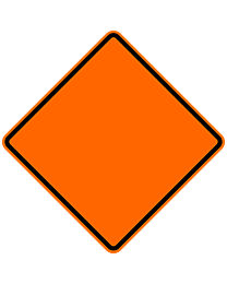 Border Only Safety Roadside Roll-Up Sign with Frames