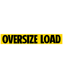 Aluminum Oversize Load Signs 12 Inch x 72 Inch