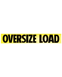 Reflective Aluminum Oversize Load Signs 12 Inch x 72 Inch