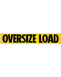 Oversize Load Decal 12 Inch x 72 Inch