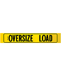 Oversize Load Decal with Border (AZ Required) 12 Inch x 72 Inch