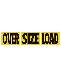 """Magnetic 3 Piece """"OVER"""" """"SIZE"""" """"LOAD"""" Sign"""