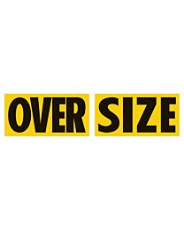 """Magnetic 2 Piece """"OVER"""" """"SIZE"""" Sign"""