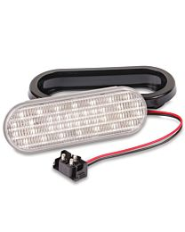 6.5 Inch x 2.25 Inch Oval Clear LED Light