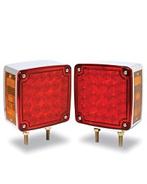 4 Inch x 4 Inch Square Red/Amber Light