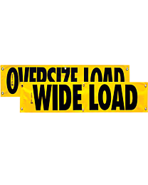 Vinyl Two Sided Oversize Load/Wide Load Banner 12 Inch x 72 Inch