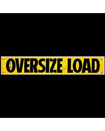 Vinyl Oversize Load Banner 12 Inch x 72 Inch