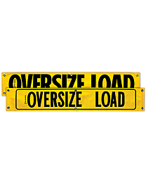 Vinyl Two Sided Oversize Load / Oversize Load with Border 12 Inch x 72 Inch