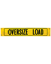 Vinyl Oversize Load Banner with Border (AZ Required) 12 Inch x 72 Inch