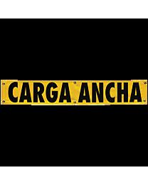 Vinyl Two sided Oversize Load/Spanish Banner w/ Border (AZ/MX Req) 12 Inch x72 Inch