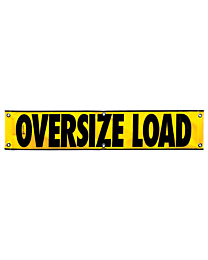 Mesh Oversize Load Banner (CO Required) 12 Inch x 60 Inch
