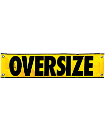 Mesh Oversize Load Banner (AK Required) 12 Inch x 48 Inch