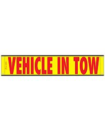 High Intensity Reflective Vehicle In Tow Banner 12 Inch x 60 Inch