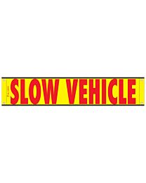 High Intensity Reflective Slow Vehicle Banner 12 Inch x 60 Inch