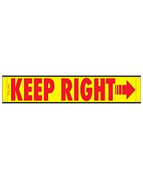 High Intensity Reflective Keep Right Banner 12 Inch x 60 Inch