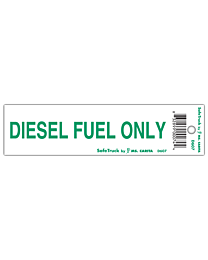 Diesel Fuel Only Truck Decal