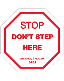 Stop Don't Step Here Decal