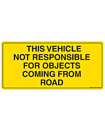 Objects Coming From Road Decal