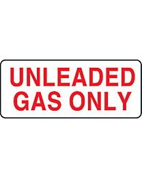 Unleaded Gas Only Decal