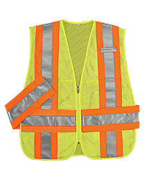 Lime Green DOT Style Safety Vests