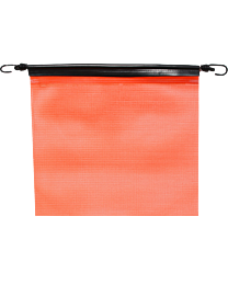 18 Inch Orange Mesh Flag with Bungees