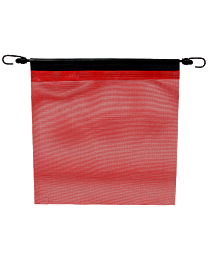 18 Inch Red Mesh Flag with Bungees,18 Inch Reflective Orange Mesh Flag with Bungee and Edge Binding