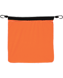 18 Inch Orange Poly Flag with Bungee