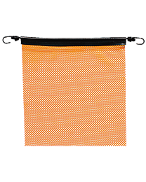 18 Inch Orange Jersey Flags with Bungees