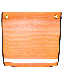 Reflective Orange Mesh Flags with Grommets and Edge Binding