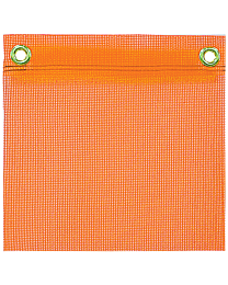 Orange Mesh Flags with Grommets
