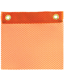 Flo-Orange Jersey Flags with Grommets