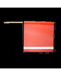 Reflective Orange Mesh Flags with Edge Binding