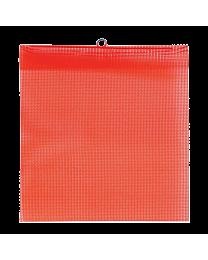 Flo-Orange Mesh Flags with Wire Loop