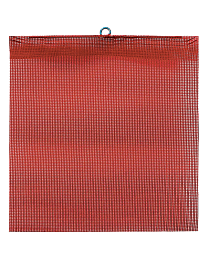 Red Mesh Flags with Wire Loop and Edge Binding