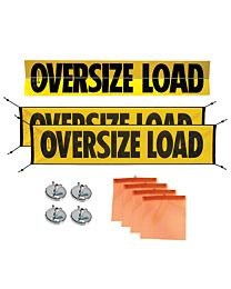 Aluminum Sign, Mesh Banners, Wire Loops Flags and Magnets Kit