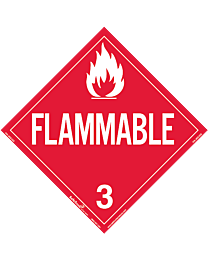 Flammable 3 Decal