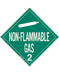 Non Flammable Gas 2 Decal