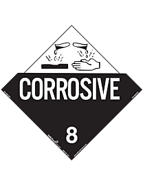 Corrosive Class 8 Decal